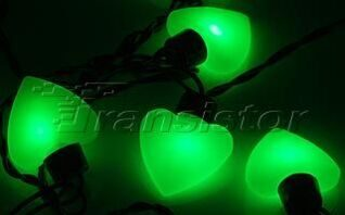 Гирлянда ARL-HEART-5000-20LED Green (220V, 5W)